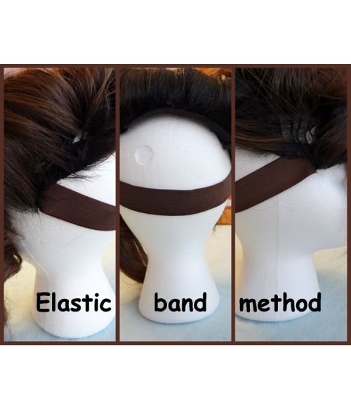 UniWigs Black Elastic Bands Wig Accessories for  Wigs