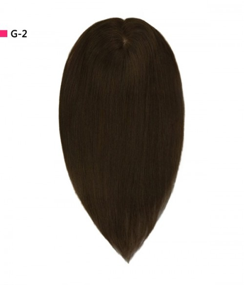 "7.5""*8"" Megan  Silk Top Virgin Remy Human Hair Topper"