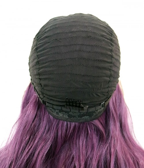 Purple Loose Curl Synthetic Lace Front Wig