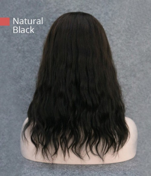 """5.5""""*6"""" Vickie Wavy Virgin Remy  Human Hair Mono Topper for clearance"""