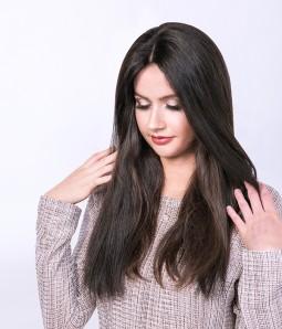 "10""*10""  Hera Virgin Remy Human Hair 3/4 cap wig"