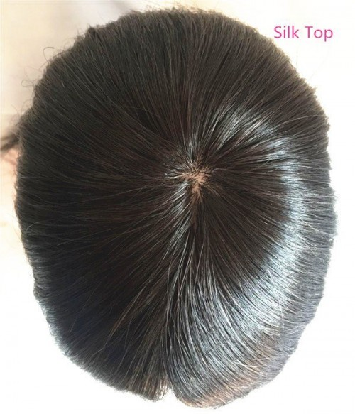 "5.5""×5.5""  Silk Top Virgin Remy Human Hair Topper"