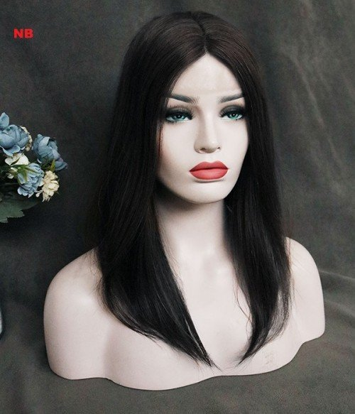 """6.5""""*6.5"""" Upgrade Claire Plus Virgin Remy Human Hair Mono Topper"""