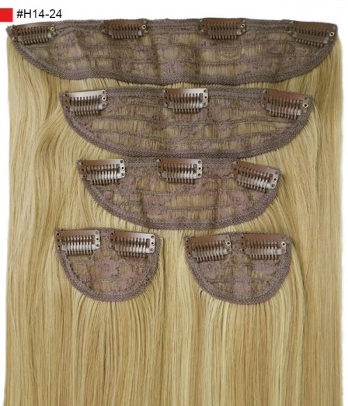"Jasmine 18"" 5 Pieces Silky Straight Clip-In Synthetic Hair Extensions"