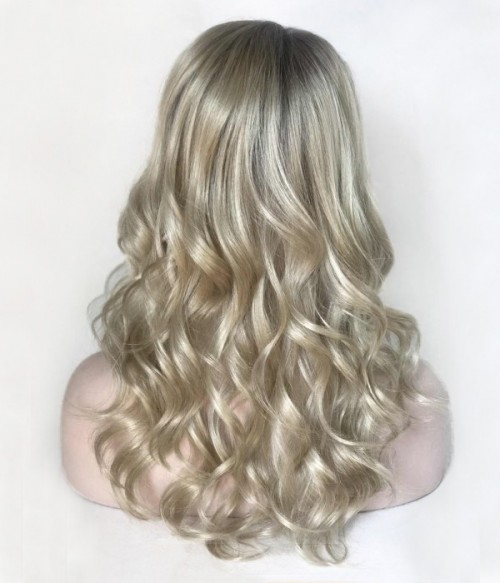 "8.5""*9""  Wavy Synthetic Mono Hair Topper"