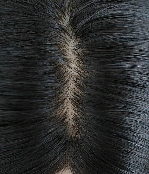 "8.5""*9"" Kimberly Silk Top Virgin Remy Human Hair Topper"