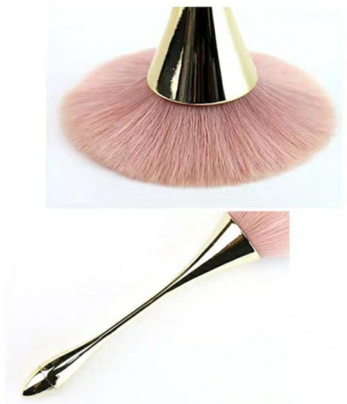 Rose Gold Makeup Powder Brush