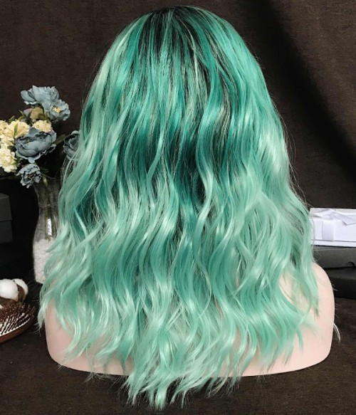 Minty Mist | Sea Green Synthetic Lace Front Wig (Heat Friendly)