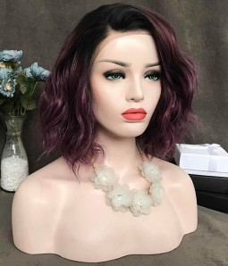 Violet Honey | Purple Bob Synthetic Lace Front Wig (Heat Friendly)