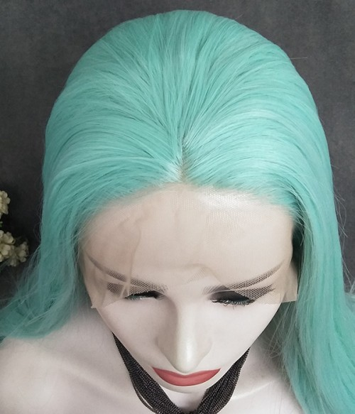 Straight Version of Montego Bay / Summer Mint Green Synthetic Lace Front Wig