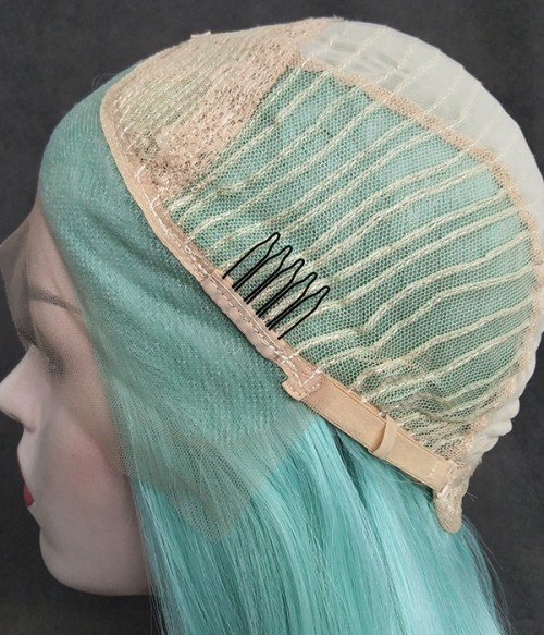 Loose Curl Version of Montego Bay / Summer Mint Green Synthetic Lace Front Wig