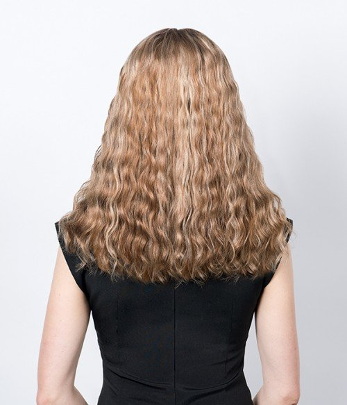 "6.5""x6.5"" Upgrade Claire Plus Wavy Virgin Remy Human Hair Mono Topper"