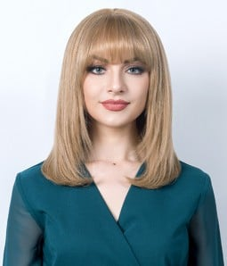 Pandora | Layered Bob Remy Human Hair Mono Top Wig with Bangs | Lace Front