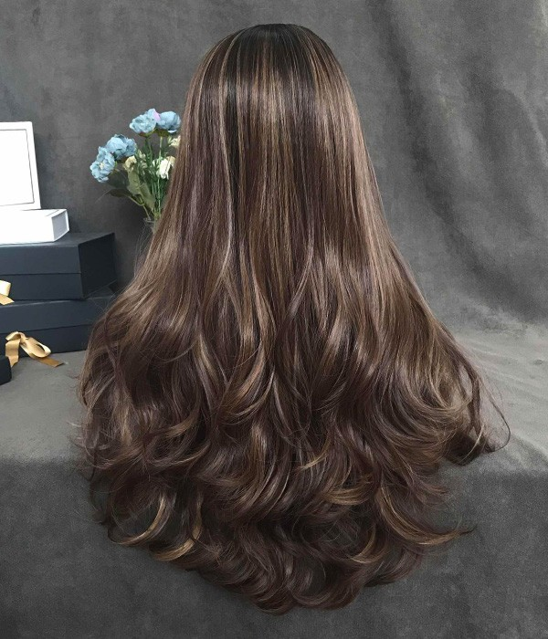Loco Cocoa Brunette Balayage Long Wavy Synthetic Lace Front Wig Uniwigs Official Site,Low Budget Low Cost L Shaped Modular Kitchen Designs Catalogue