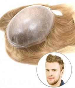Cronus European Virgin Human Hair Toupee for Men   Full Skin
