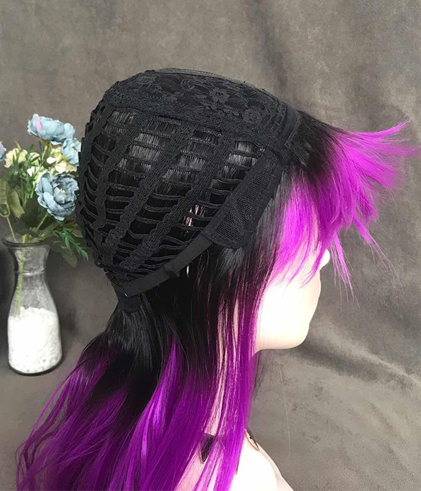 Twilight Sparkle Mystic Purple With Black Dip Dyed And Bangs Long Synthetic Wig Uniwigs Official Site