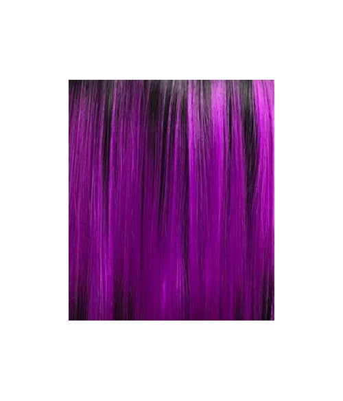 Twilight Sparkle Mystic Purple with Black Dip Dyed and Bangs Long Synthetic Wig