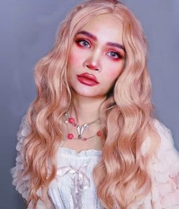 Coral Doll | Pastel Pink Long Loose Curl Synthetic Lace Front Wig