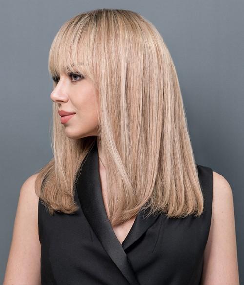 Zoe Mono Top Full Hand-tied Human hair wig