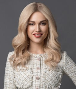Harper |Blonde Highlight Remy Human Hair Lace Front Wig
