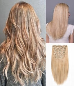 14-24A Cream Soda | Dark Blonde and highlighted with Light Blonde