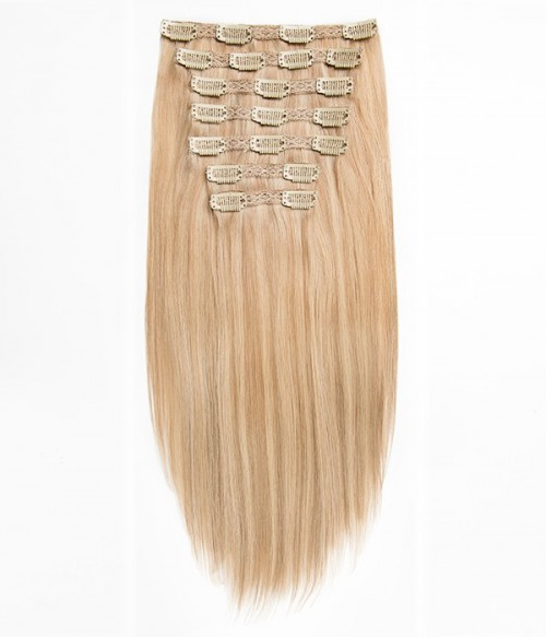 """6""""×6""""-Upgrade Claire Remy Human Hair Topper+Audrey 7-Piece Clip-in Remy Human Hair Extensions"""