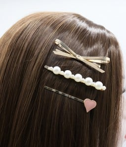 3 pcs Pearl Rose Gold Hair Clips