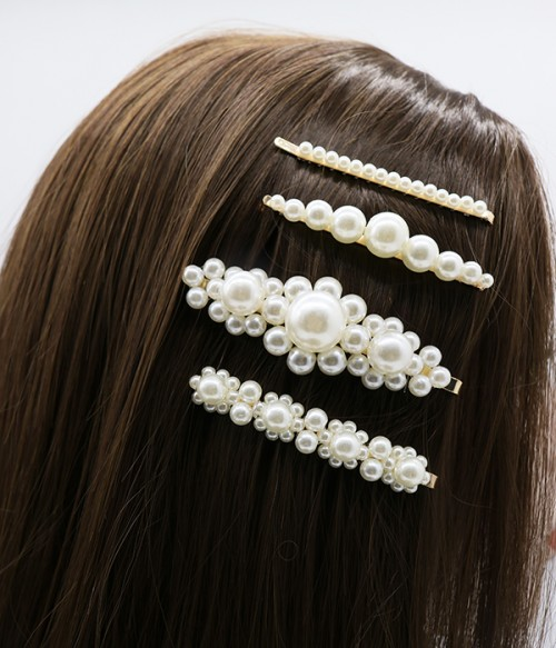 4 pcs Pearl Hair Cilps