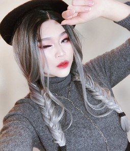 Thunder Cloud Stormy Gray Long Wavy Synthetic Lace Front Wig