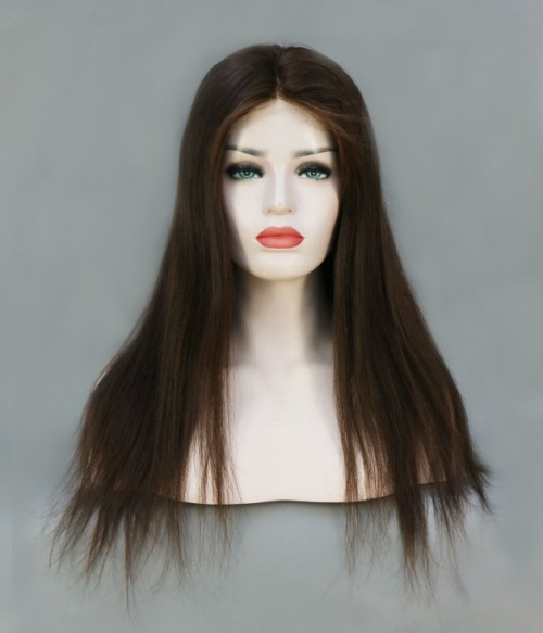 """Beyonce 24"""" Yaki Straight Indian Remy Human Hair Full Lace Wig"""