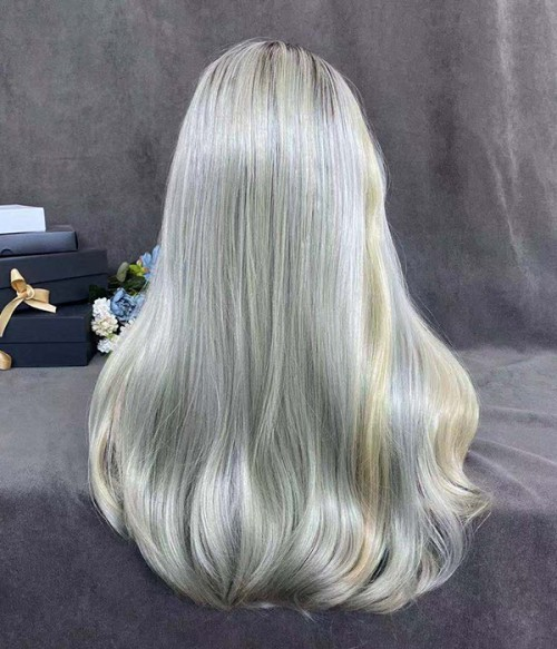 Blonde Olive Long Natural Wave Synthetic Wig