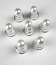 Pearl Rhinestone Twister Spiral Hair Pins Set (6 pcs)