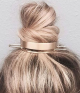 Chic Alloy Top Hair Bun Holder/ Bun Cuff with Hair Stick