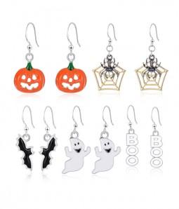 Limited Halloween Drop Dangle Earrings Set(5 pairs )Pumpkin | Ghost | Bat | Spider Web | Letter