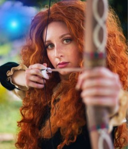 Limited Merida Wig | Fox Red Long Curly Synthetic Wig | Disney Princess Merida Cosplay