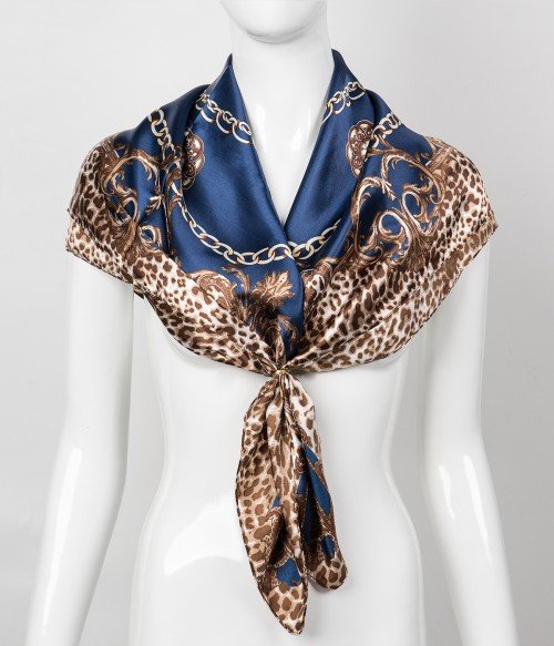 Print Square Scarf | Tied Accessory