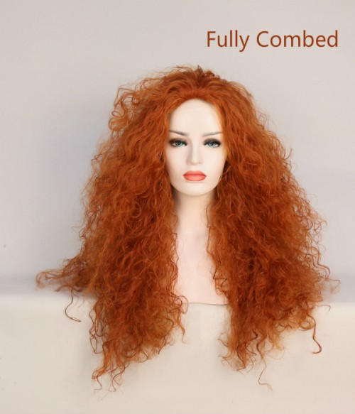 Limited Merida Wig | Fox Red Long Curly Synthetic Wig | Disney Princess Merida Cosplay