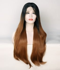 Limited Brown Straight Synthetic Wig