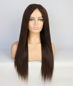 Yaki Straight Remy Human Hair Full Lace Wig | Clearance