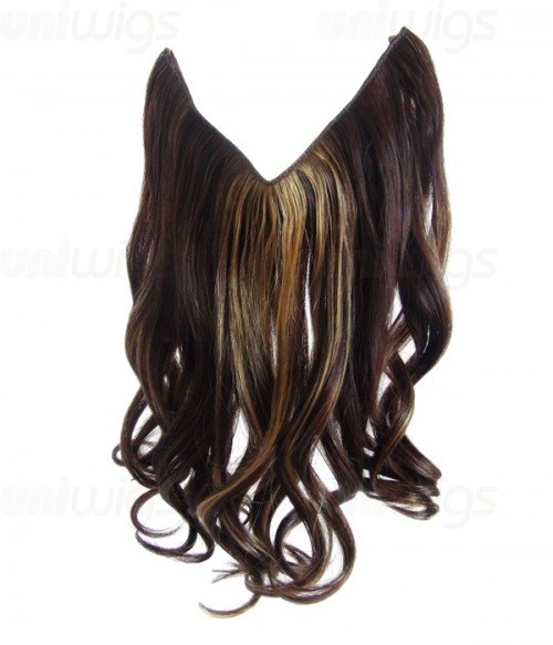 "16"" Wave Synthetic Piano Color Flip In Hair Extension E51006-Y-25"