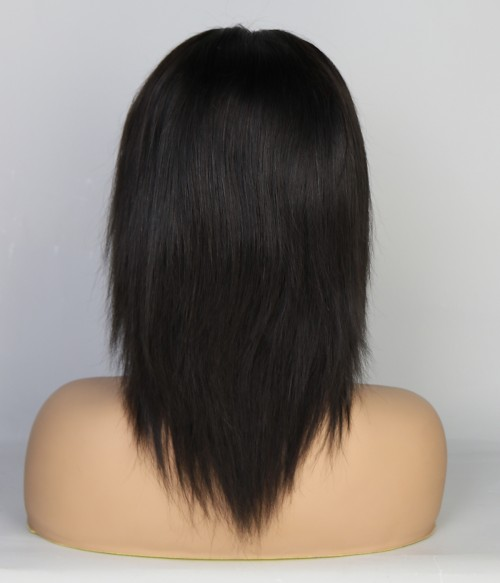 "Tia Straight 10"" Indian Remy Human Hair Lace Front Wig"