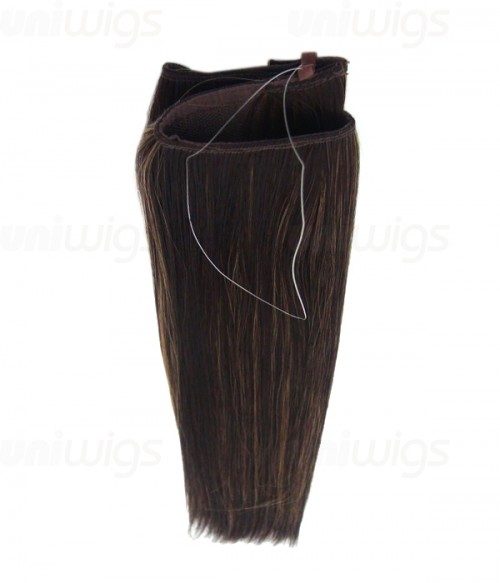 "16"" Straight Synthetic Piano Color Flip In Hair Extension E51007-Y-25"