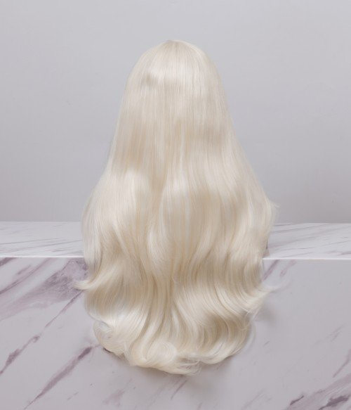 The Snow Queen l Ivory White Blonde Long Loose Wave Lace Front Wig