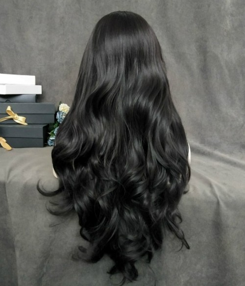 Lilith | Deepest Brown Long Natural Wavy Synthetic Wig