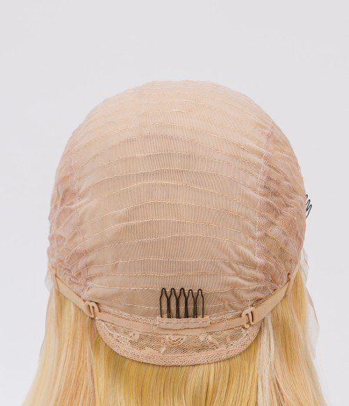 Blonde Balayage Long Straight Synthetic Lace Front Wig