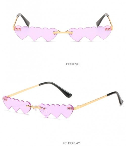 Fashion Rimless Candy Color Tinted Sunglasses l Party Glasses l Funny Disco Glasses