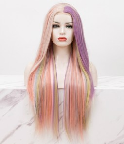 Colorful Long Straight Lace Front Wig