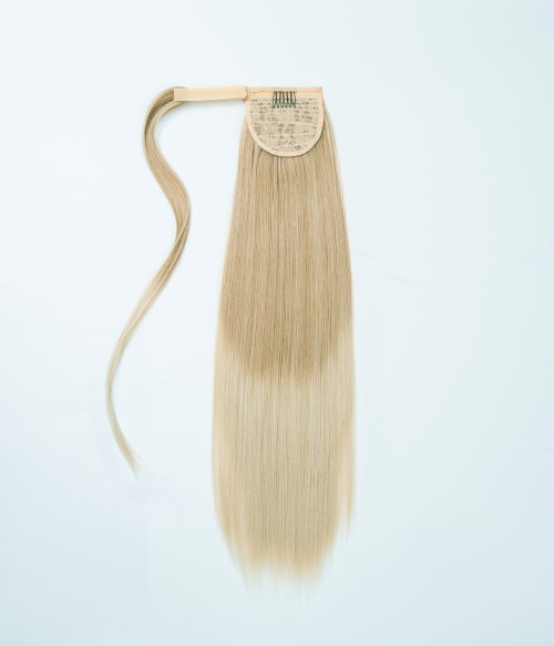 H616 Sunrise | Sandy blonde roots gradually fades to ash blonde. Root length is about 11"