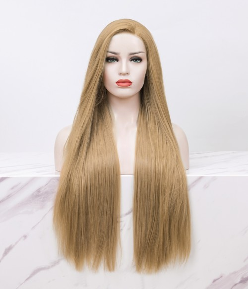 Dreamy Sand | Bronde Long Straight Synthetic Lace Front Wig