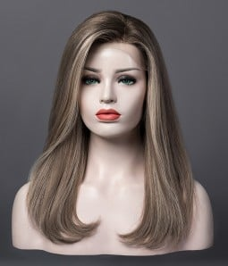 Ashton | Ash Blonde Balayage Remy Human Hair Wig | Lace Front